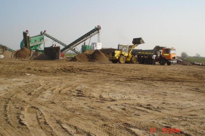 Balastiera Arad - Statie sortare balast, nisip
